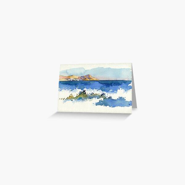 Black Sea Shore Greeting Card