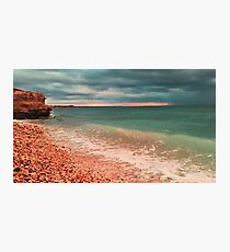 sea waves lapping on shore Photographic Print
