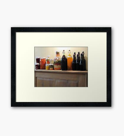 Provisions of yummy Framed Print