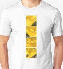 Macro Yellow Tulip Petals Collage T-Shirt