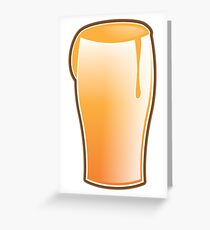 Beer drink glass Greeting Card