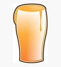 Beer drink glass Photographic Print