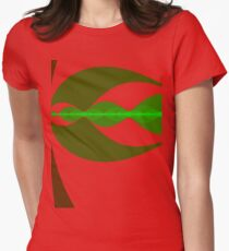 sinething about waves, April ends, or that! Womens Fitted T-Shirt