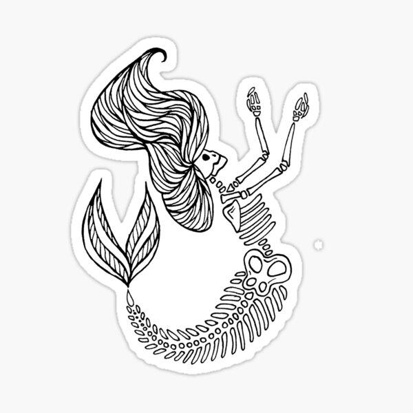 Mermaid Bones - RIP Sticker
