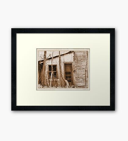 """""""Tennessee Mountain Home""""... prints and products Framed Print"""