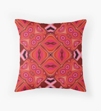Patterned In The Pink  Throw Pillow