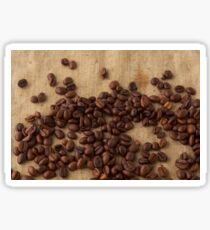 scattered coffee bean Sticker
