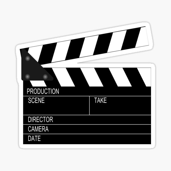 Clapperboard Sticker