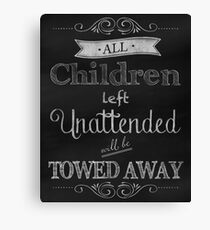 Humorous Chalkboard typography business decor Canvas Print