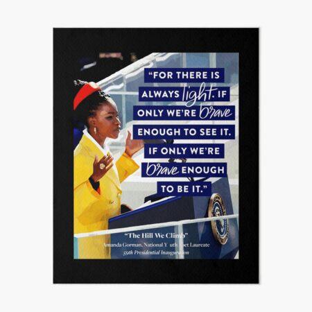 amanda gorman the hill we climb 01 Art Board Print