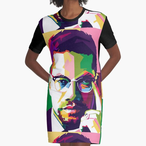 Malcolm X Graphic T-Shirt Dress