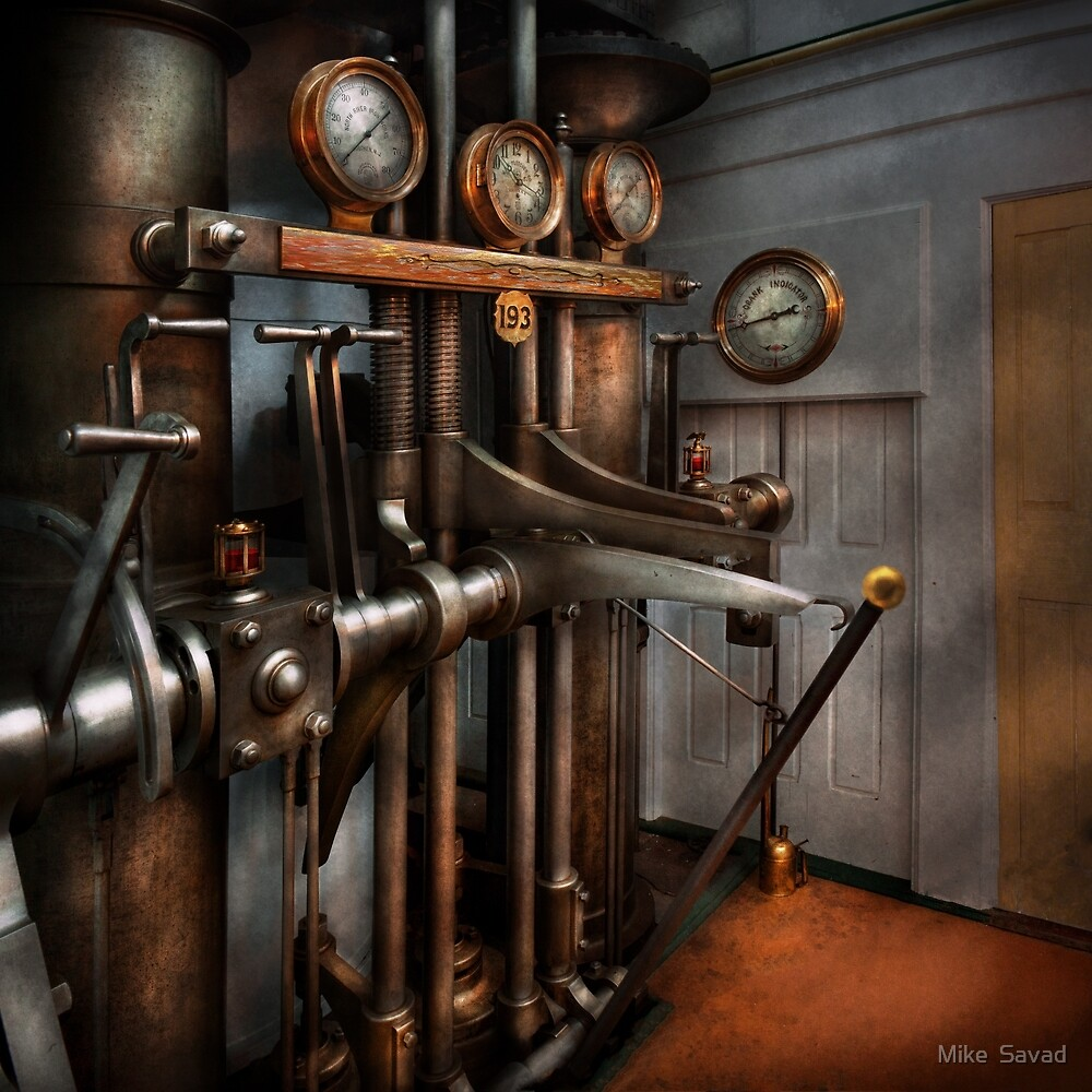 Steampunk - Controls - The Steamship control room by Michael Savad