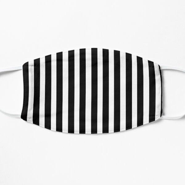 Schwarzweiss-vertikales Linien- / Balkenmuster für flache Masken Flache Maske