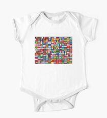Die Flaggen der Welt Baby Body Kurzarm