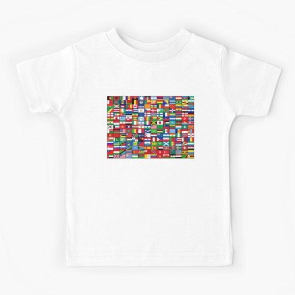 Die Flaggen der Welt Kinder T-Shirt