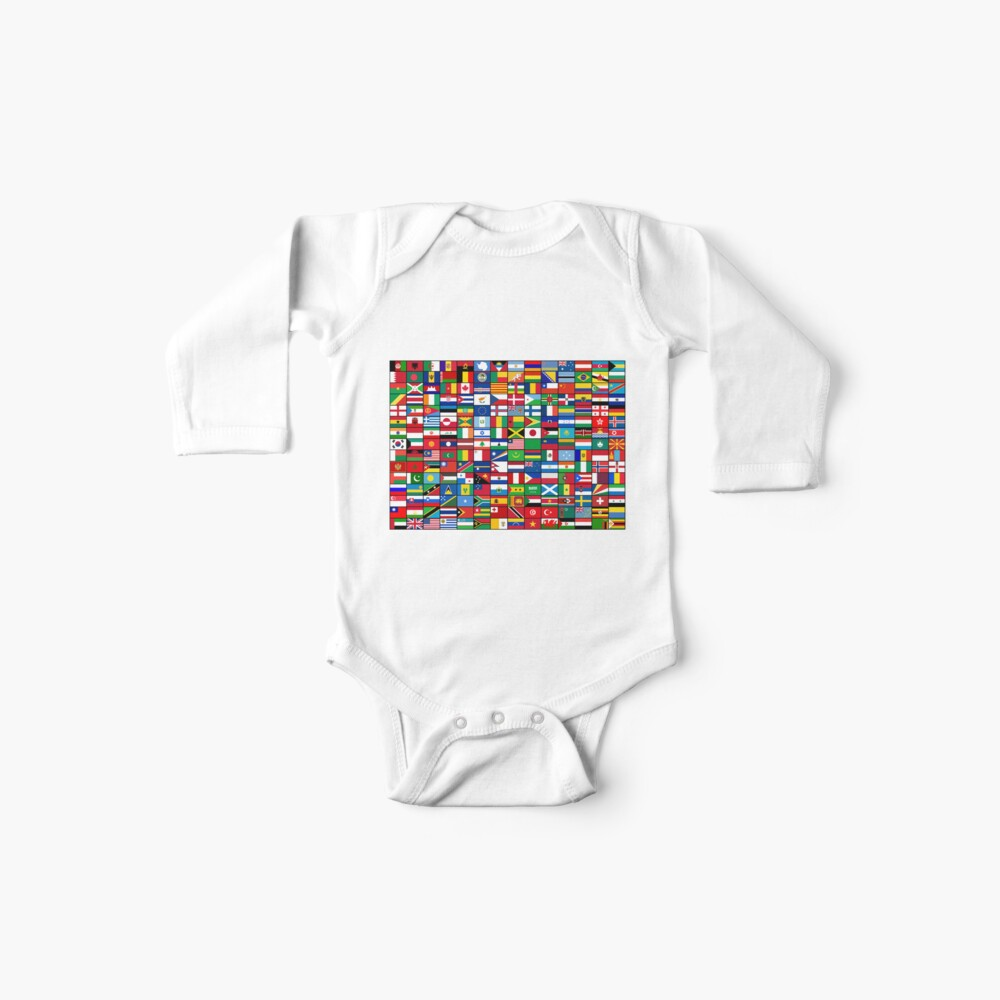 The World's Flags Baby One-Piece