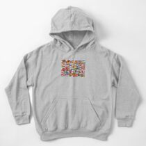 The World's Flags Kids Pullover Hoodie