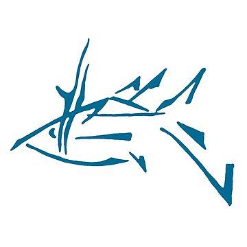 Abstract Blue Fish by svetIu