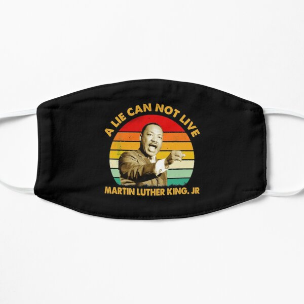 quotes by martin luther king jr a lie can not live Flat Mask