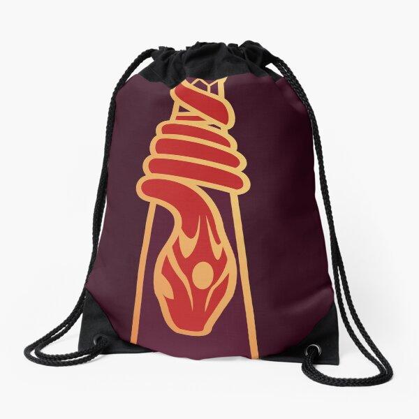 Design de serpent entourant une goutte d'eau - doré rouge Sac à cordon