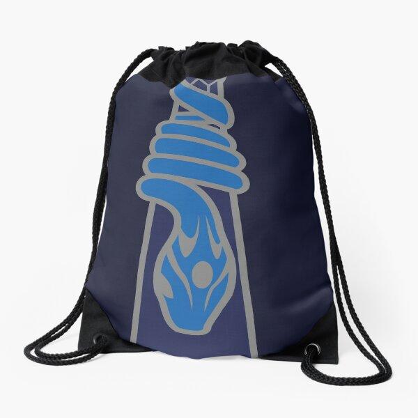 Design de serpent entourant une goutte d'eau - argenté bleu Sac à cordon