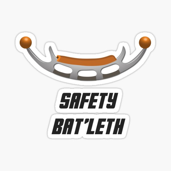 Parent and baby - Klingon Baby Batleth Sticker
