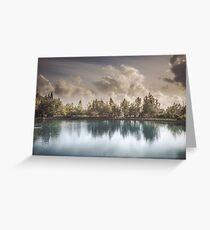 Lake of Zaros at spring Greeting Card