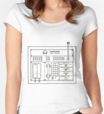 Horizons Load Console Control Panel Diagram from Epcot Women's Fitted Scoop T-Shirt