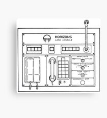 Horizons Load Console Control Panel Diagram from Epcot Metal Print