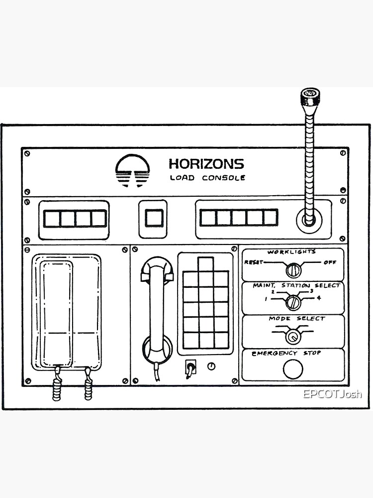 Horizons Load Console Control Panel Diagram from Epcot by EPCOTJosh