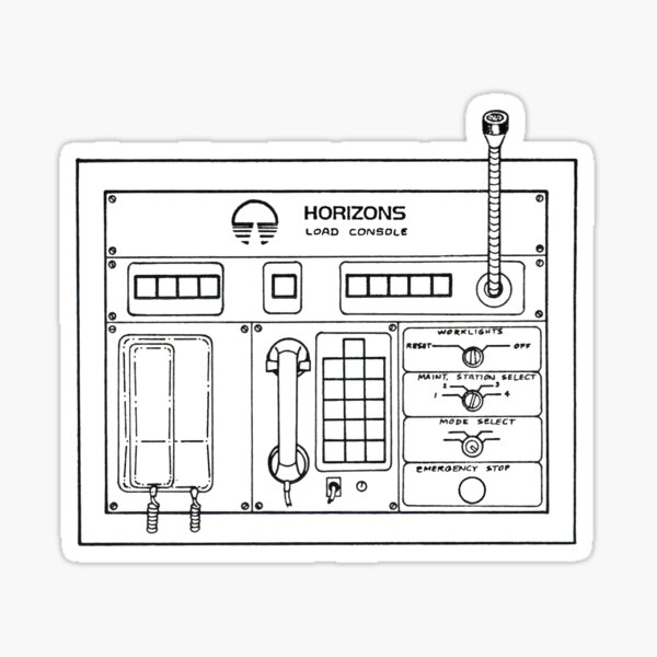 Horizons Load Console Control Panel Diagram from Epcot Sticker