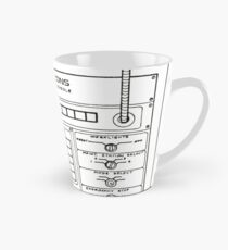 Horizons Load Console Control Panel Diagram from Epcot Tall Mug