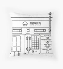Horizons Load Console Control Panel Diagram from Epcot Throw Pillow