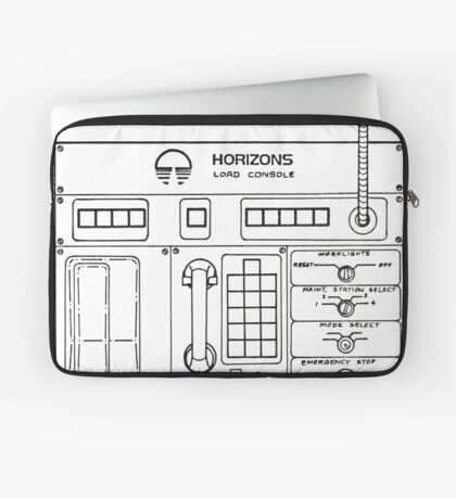Horizons Load Console Control Panel Diagram from Epcot Laptop Sleeve