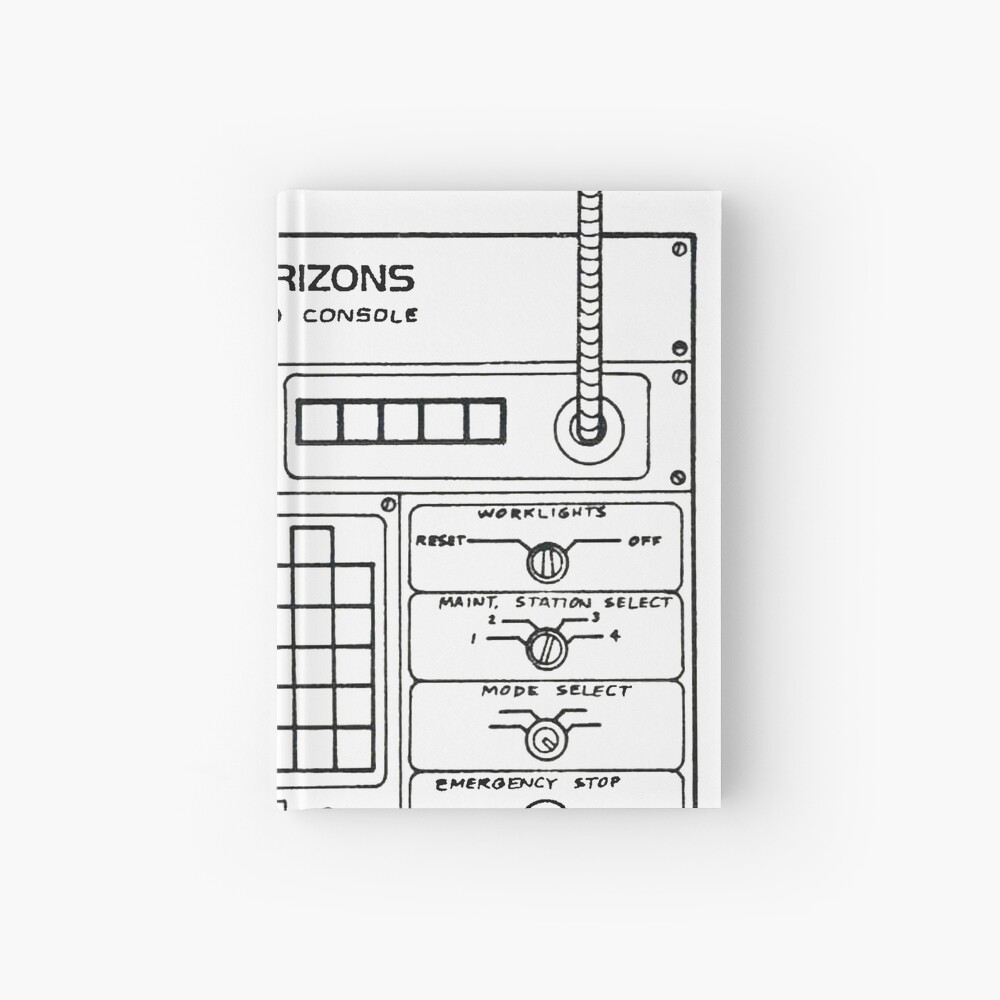 Horizons Load Console Control Panel Diagram from Epcot Hardcover Journal