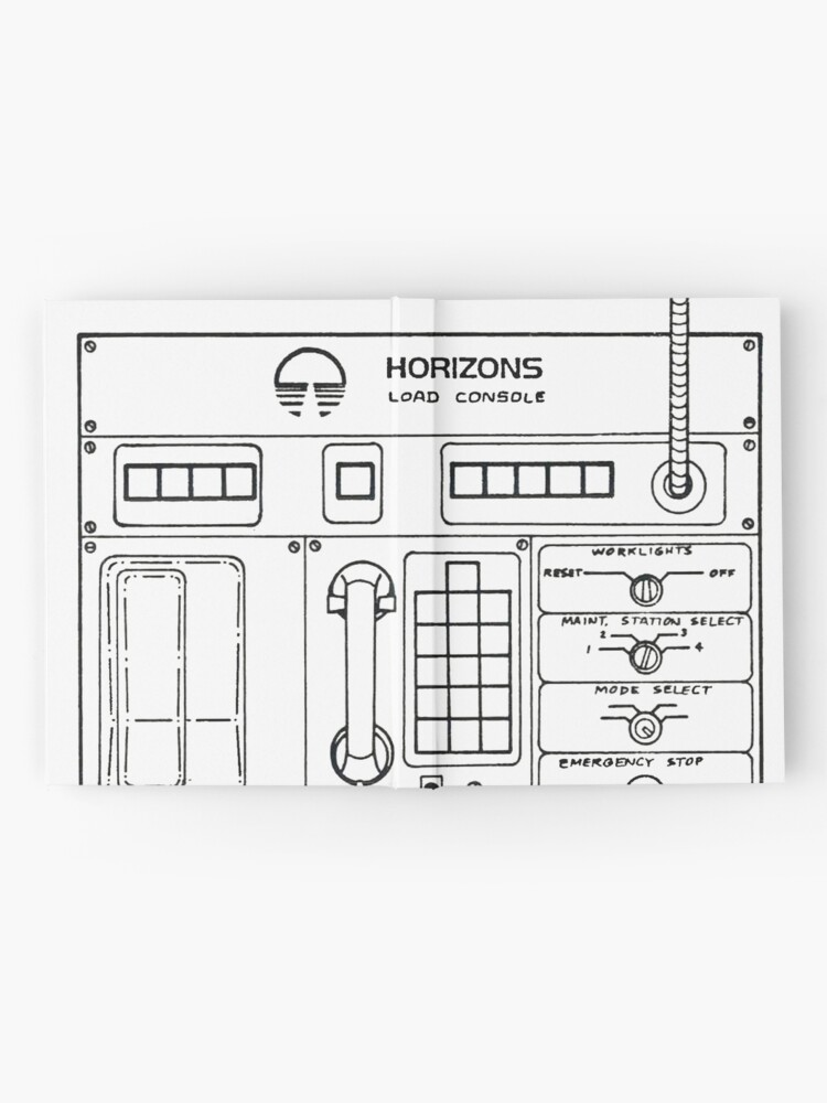 Alternate view of Horizons Load Console Control Panel Diagram from Epcot Hardcover Journal