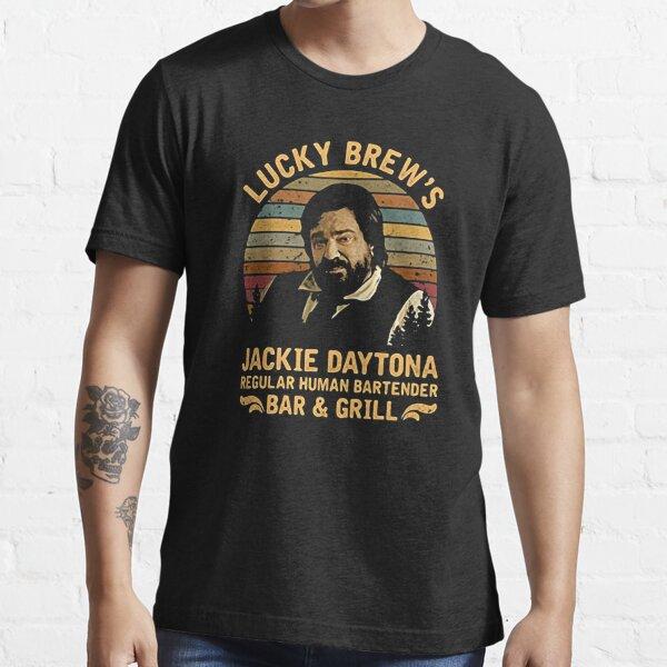 Lucky brew's jackie daytona regular human bartender we do in shadow t-shirt Essential T-Shirt