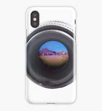 double exposure desert, mountains and the lens iPhone Case/Skin