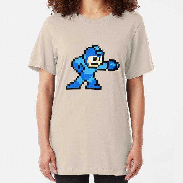 8-bit Megaman Slim Fit T-Shirt
