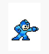 8-bit Megaman Photographic Print