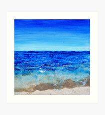Patterned Waves Art Print