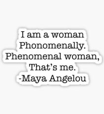 Phenomenal Woman Sticker