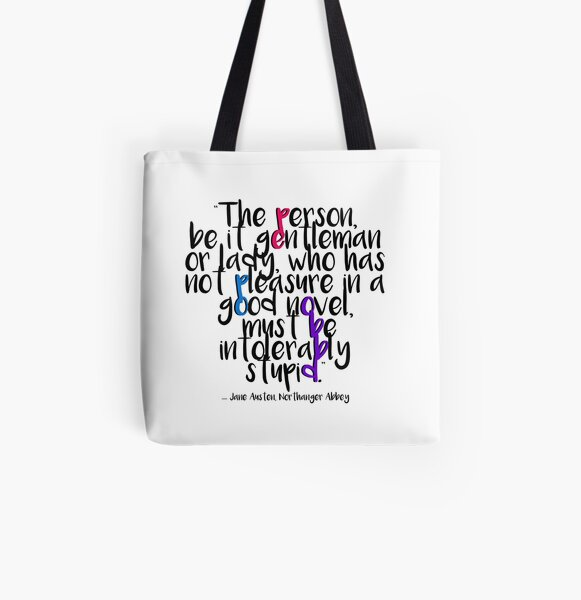 Jane Austen ― Northanger Abbey ― White Out All Over Print Tote Bag