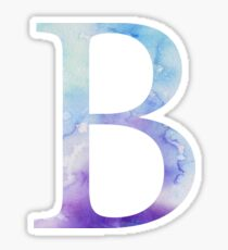Beta Blue Watercolor Letter Sticker