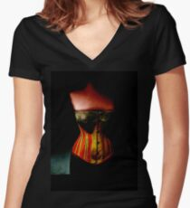 The Corset Women's Fitted V-Neck T-Shirt