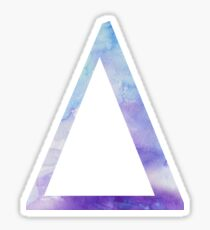 Delta Blue Watercolor Letter Sticker