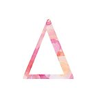 Delta Pink Watercolor Letter by AdventureFinder