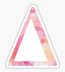 Delta Pink Watercolor Letter Sticker
