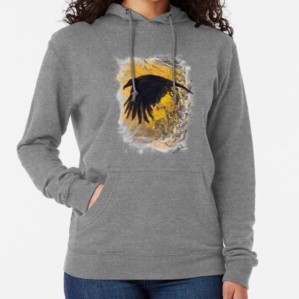 Every Crow is on a Journey: Number Eight Lightweight Hoodie