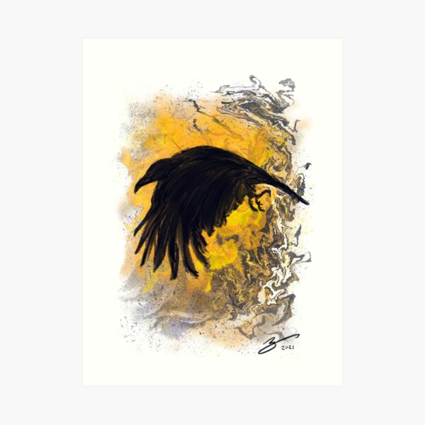 Every Crow is on a Journey: Number Eight Art Print